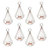 B Blesiya 8er/Set Kupfer Geometrie Kerzenhalter Teelichthalte Kerzenständer Hochzeit Dekoration