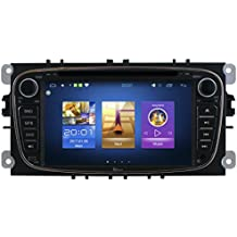 """RADIO DE COCHE 7"""" FORD S-MAX KUGA MONDEO C-MAX ANDROID 6.0 USB WIFI 3G DVD DIVX MP3 GPS MIRROR LINK AIRPLAY USB SWC SHAZAM SPOTIFY PLAYSTORE AROUND ME INTERNET WIFI 3G BLUETOOTH AUDIO PHONEBOOK MP3 DVD MPEG4 CD AUX REAR CAMERA INPUT HIGH QUALITY PERFECT AUDIO"""