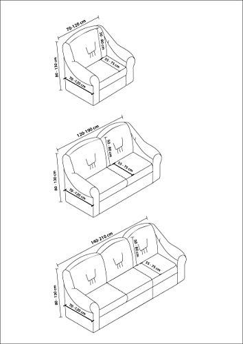 Stretch 2 Sitzer Bezug, 2 Sitzer Husse aus Baumwolle & Polyester. Sehr elastische Sofaueberwurf in creme. Sofabezug Hussen Sofahusse Stretch Husse / Stretch Hussen / Sofahusse 2-Sitzer / Sofabezug 2 Sitzer - 5