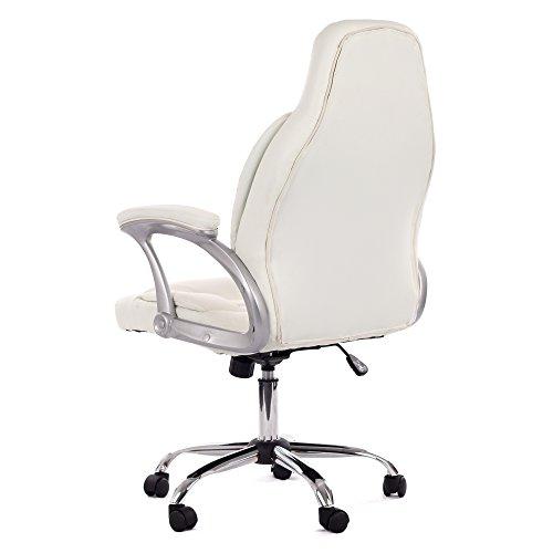 sale my sit profi brostuhl ergonomisch mit armlehnen hoher rckenlehne kunstleder wei bis 120kg. Black Bedroom Furniture Sets. Home Design Ideas
