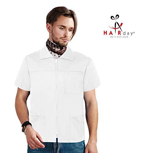 Peelingjacke mit kurzen Ärmeln - Professionelle Taschen für Labor, Hemd und Hemd - Weiß - (Brust 130 cm) XX-Large ()