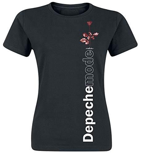Depeche Mode Violator Side Rose Camiseta Mujer Negro M