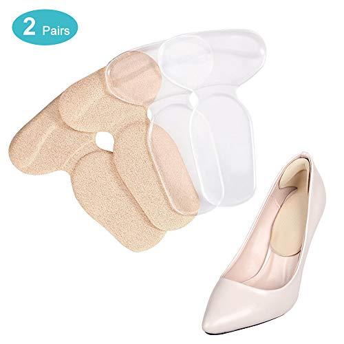 Fersenpolster für zu Große Schuhe Selbstklebend, High Heels Fersenhalter Silikon Antislip Heel Grip Liner Fersenschutz Gel Selbstklebende Schuheinlagen Schuhpads für Blasen und Schmerzen (2 Paar)