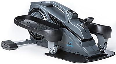 skandika Sit-Fit Mini bicicleta elíptica de uso domestico o para dejabo del escritorio en el trabajo, aparato de entrenamiento con un volante de 1,5 kg, 8 niveles de resistencia manualmente ajustable y con una computadora de entrenamiento integrada con pantalla digital para mostrar los datos del rendimiento