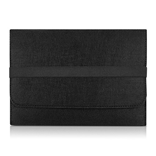 """kwmobile Laptoptasche Filz Sleeve für 12,5"""" 13"""" 13,3"""" Laptop / Ultrabook - Notebook Tasche Schutzhülle Laptop Case Hülle in Schwarz mit Innentaschen Innenmaße: ca. 34,5 x 26 cm"""