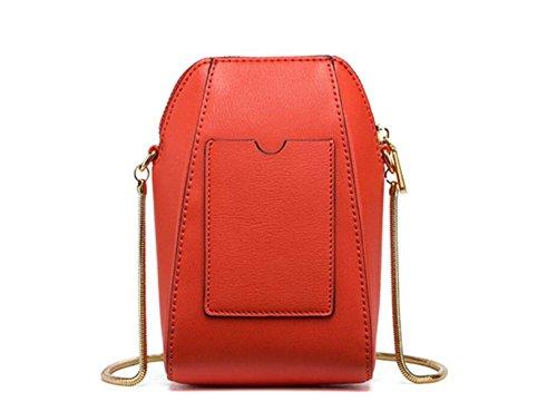 FZHLY Nuovo Mini Spalla Coreana In Pelle Shell Pacchetto Messenger Bag,PigeonGray VitalityOrange