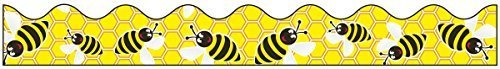 Pacon Bordette Designs Decorative Border, 2 1/4-Inch x 25-Feet, Bee Dazzle, Yellow/Black/White, 1 Roll (0037750) by Pacon Corp.