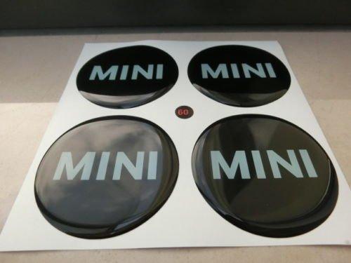 Set-di-4-adesivi-coprimozzi-MINI-COOPER-Resinati-Effetto-3D