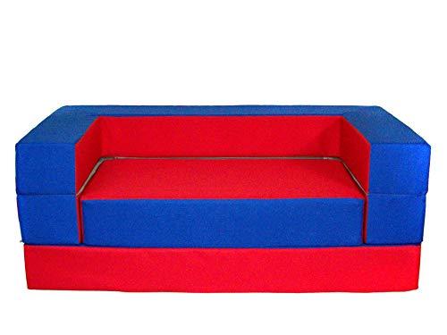 Barabike - Juego 4 en 1 para Cuarto de niños, sofá Suave, Muebles para habitación Infantil, Color Rojo y Azul