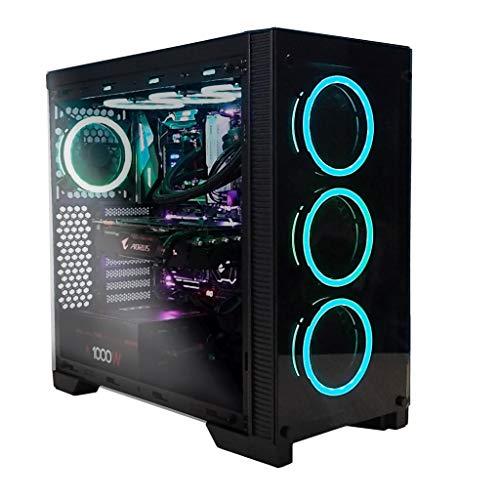 Abysm Ebony - Caja de Ordenador ATX Gaming (2xUSB 2.0, 2xUSB 3.0, 4x120 mm LED...