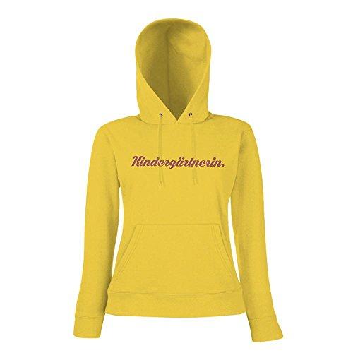 Kindergärtnerin #1 Hoody | Berufe-Hoody | Traumberuf | Beste Kindergärtnerin | Frauen | Kapuzenpullover Gelb