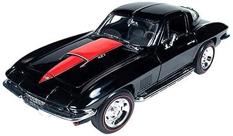 Auto World - Amm1004 - Véhicule Miniature - Modèle À L'échelle - Chevrolet Corvette 427 - 1967 - Echelle 1/18
