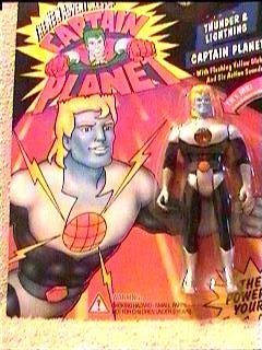 The New Adventures of Captain Planet: Thunder and Lightning Captain Planet Action Figure by Tiger Electronics