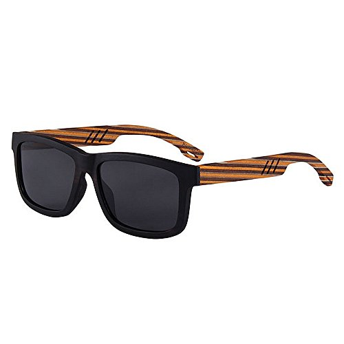 Ppy778 Unisex Polarized Sonnenbrillen Federscharnier Holzrahmen UV 400 Schutzglas