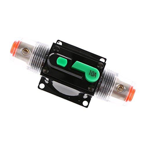 Switch Inline-push-button (MagiDeal 1 Stück Lesitungsschalter, manuell getriebene Auto Audio Sicherheits Zubehör für alle Auto - Schwarz 10A)