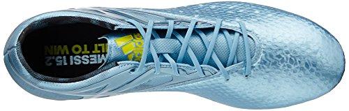 adidas Messi 15.2 Firm Artificial Ground, Chaussures de football homme Argent - Silber (Matt Ice Met.F12/Bright Yellow/Core Black)