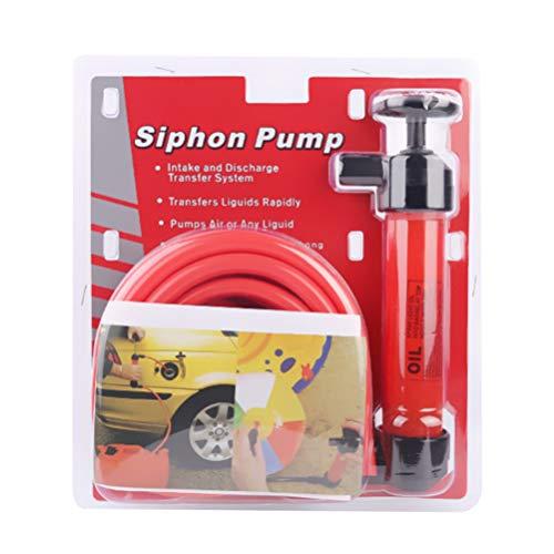 Wakauto Siphon-Handpumpe Flüssigkeits-Transferpumpe Manuelle Saugpumpe aus Kunststoff für Gas Öl Flüssigkeiten Luft Und Andere Flüssigkeiten