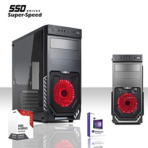 GAMME SSD PC ORDINATEUR DE BUREAU GADING QUAD CORE AMD A8 9600 3.4GHZ/LICENCE WINDOWS 10/625 WATT/RAM 8GB DDR4 2400MHZ /SSD 240GB /AMD Carte graphique Radeon R7/HDMI, VGA, DVI, USB 2.0.3.0,/CD -DVD.