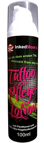 Tattoo-Pflege Lotion Creme   Schnellere Heilung & Juckreiz Linderung für frisch tätowierte Haut   Mit Panthenol und 100{0306b0bfc8f36918ef0b857644f189a3c03588b18134e04cc1101494d99da4d1} Bio Hagebuttenkernöl   Tattoo-Bedarf (100ml)