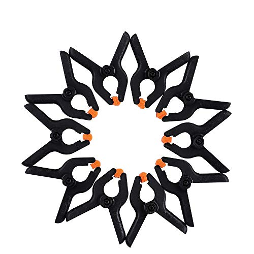Preisvergleich Produktbild 10 Pieces / Set 2Zoll Micro Toggle Clamps Springclips Plastic Nylon DIY Woodworking Spring Clamps for Photo Studio Background Clamp Plastic Nylon Toggle Clamps