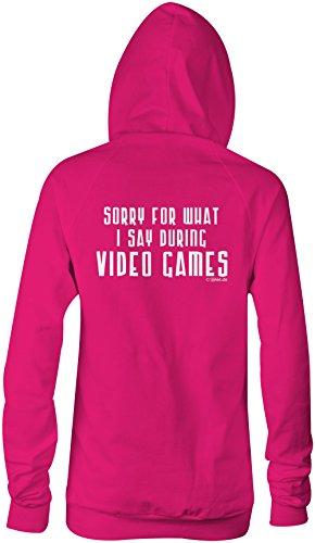 Sorry for what i say during Video Games ★ Confortable veste pour femmes ★ imprimé de haute qualité et slogan amusant ★ Le cadeau parfait en toute occasion pink