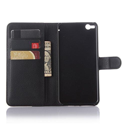 HTC One X9 Hülle [Magnetic][Flip][Ultra Slim] Fall Litschi-Korn-Muster PU-Leder Kartensteckplätzen Vollkörperschutz [Schlag-Standplatz] Abdeckung für HTC One X9