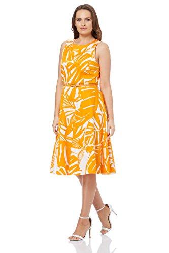 Roman Originals Baumwoll-Shiftkleid Bernstein Orange