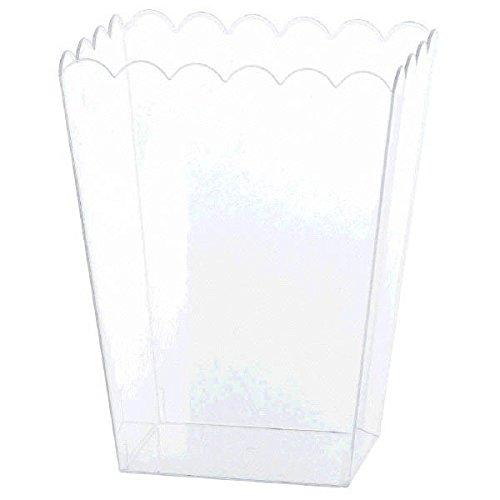 er, klarer gewellter Kunststoffbehälter (Klar, Party Favor Boxen)