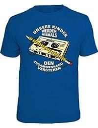 Original RAHMENLOS® T-Shirt: unsere Kinder werden niemals den Zusammenhang verstehen - warum wir Bandsalat bei Musikkassetten mit dem Bleistift aufrollen mussten…