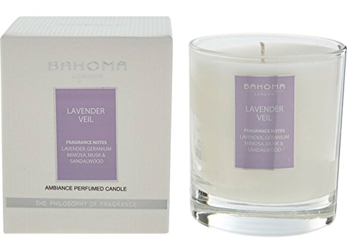 Natürliche Düfte Köln (Duftnote Desire London Parfümierte Kerze 220g (7.8oz.) handgefertigt in England, Lavendelschleier, violett, 220g)