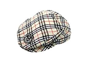 HOTER Rich Looking Gray and Black Plaid Newsboy Driver Cap