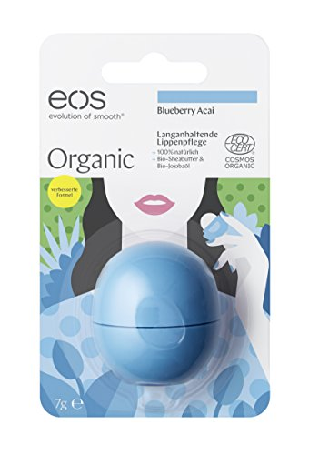 EOS Organic Smooth Sphere Baume à Lèvres Blueberry Açia