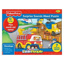 Fisher Price Little People Zoo Animals Sounds Wood Puzzle 7 pcs by Fisher-Price Puzzles Fisher Price