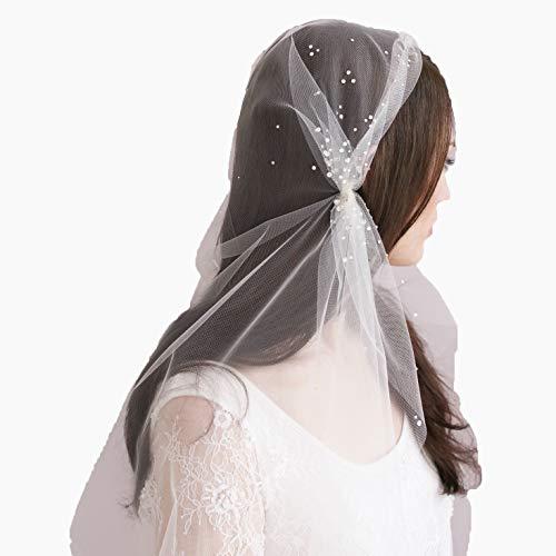 (LETFF Braut Hochzeit Schleier Kopfschmuck Abendessen Zubehör Foto Requisiten (weiß))