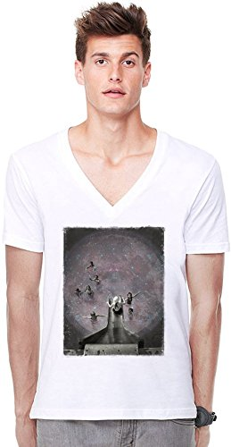 Space Pool Deep V-neck T-shirt XX-Large