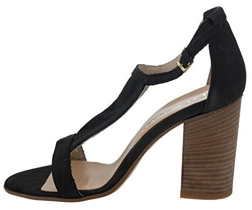 JONAK , Sandales pour Femme Noir Schwarz - Noir - Schwarz, 36 EU