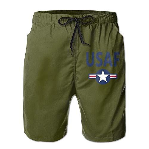 Magictop US Air Force Stars USAF Herren Casual Classic Slim Badeshorts Strandhose 2XL