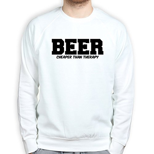 Bier ist besser als Therapie - Funny Loose Fit Pullover