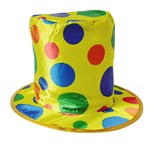 Isuper Clown Hut Halloween lustige bunte Polka Dot Clown Hut Magier Kostüm Hut für Party und Halloween (Clown Lustig Halloween)