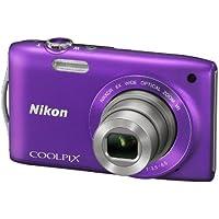 Nikon Coolpix S3300 Digitalkamera (16 Megapixel, 6-fach opt. Zoom, 6,7 cm (2,7 Zoll) Display, bildstabilisiert) violett