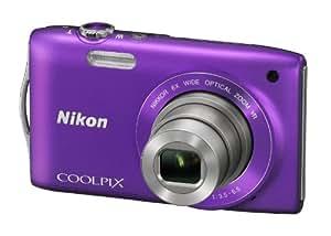 """Nikon Coolpix S3300 Appareil photo numérique compact 16 Mpix Ecran 2,7"""" Zoom optique 6x Violet"""
