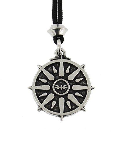 Handgemachte Griechischen Stern von Olympus Zinn Anhänger (auf schwarzer Schnur) (Hermes-bote)