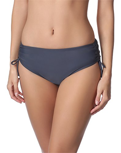 Merry Style Bragas Tanga de Bikini Parte Inferior Bañador Mujer M30 Grafito 9154, 46...