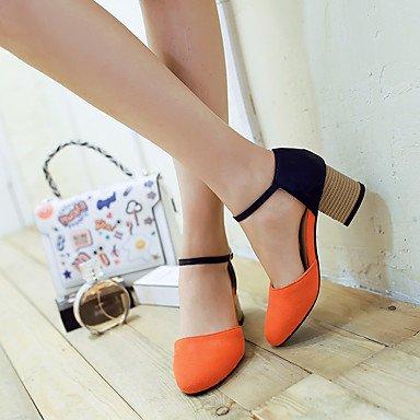 LvYuan Da donna-Sandali-Formale Casual-Altro D'Orsay-Quadrato-Finta pelle-Rosa Grigio Arancione Orange
