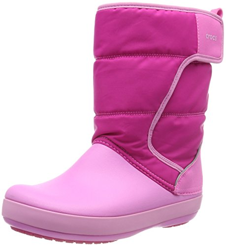 Crocs Unisex-Kinder LodgePoint Snow Boot Kids Schneestiefel, (Candy/Party Pink), 38/39EU