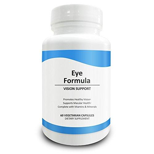 Pure Science Auge Formel - Lutein und Zeaxanthin mit Heidelbeeren proprietäre Mischung und Vitamine - die perfekte Ergänzung für die Augen Unterstützung - 60 vegetarische Kapseln - leichter zu schlucken als Tabletten (Heidelbeere Formeln)