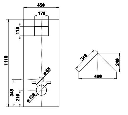 Sanit Verkleidungsplatten WC-Eckelement 995SC