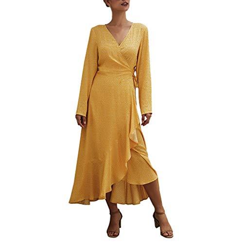 Damen Lange Kleid Kleider Maxikleider Blumenkleid Unregelmäßigkeit Blumedrucken Strandkleid Rock Böhmen Abendkleid Strandkleid Freizeitkleid (White Queen Kostüm Übergröße)