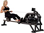 Sunny Health & Fitness Unisex Adult SF-RW5713 Obsidian Surge 500 M Water Rowing Machine - Black, One