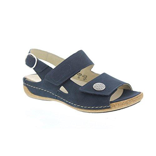 Signore Waldläufer sandalo Heliett 342002-191-217 Denver blu marine Weite H